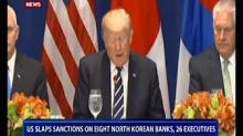 US slaps sanctions on eight North Korean banks, 26 executives