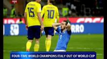 Four time world champions Italy out of world cup