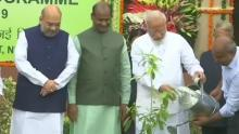 PM Modiplants sapling in Parliament as part of tree plantation drive