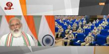 PM Narendra Modi interacts with IPS probationers through video conference