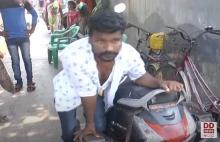 A Disabled Man Distributing Food Pockets Daily from Vijayawada - Story of Durga Rao