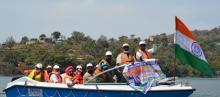 Tourism department organises boating at Mansar Lake in J&K | Azaadi Ka Amrut Mahotsav