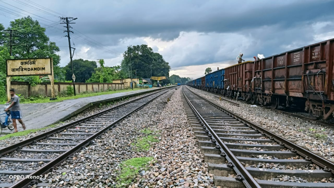 First Goods train on Haldibari-Chilahati route leaving for Bangladesh